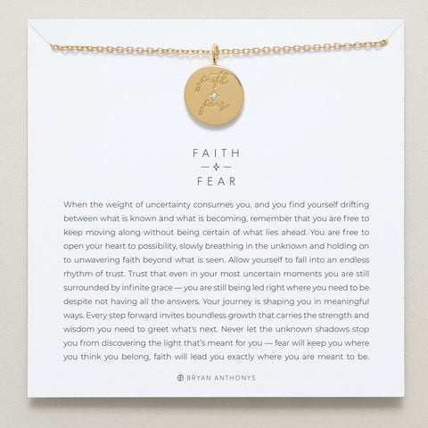 Bryan Anthonys Faith Over Fear Necklace