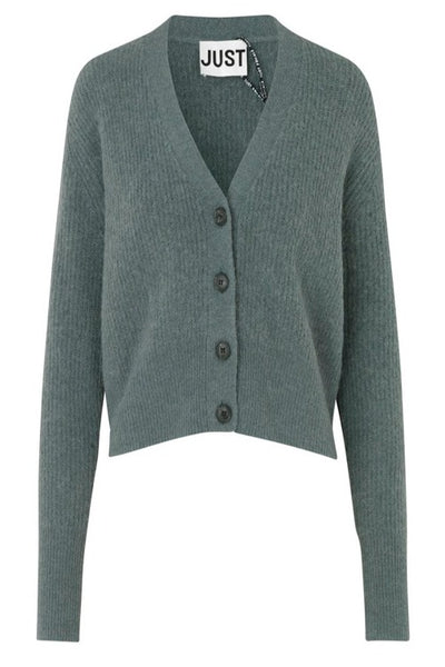 Just Female Rebelo Knit Cardigan: Balsam