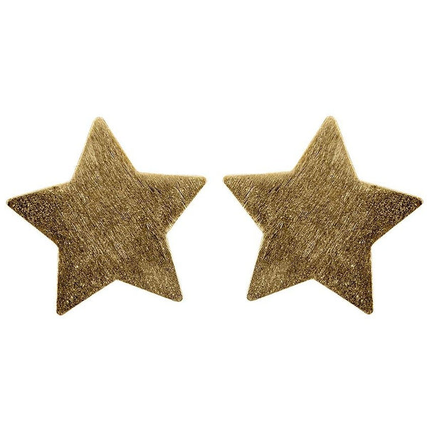 Sheila Fajl Lana Star Stud: Brushed Gold