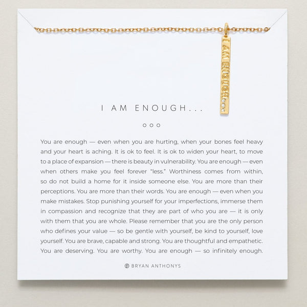 Bryan Anthonys I Am Enough Necklace