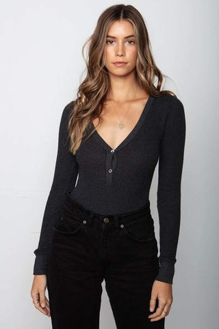 Stillwater LA Warm Up Bodysuit: Vintage Black
