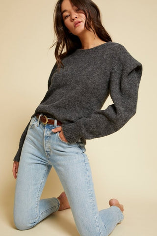 Nation Vicki Sweater: Charcoal