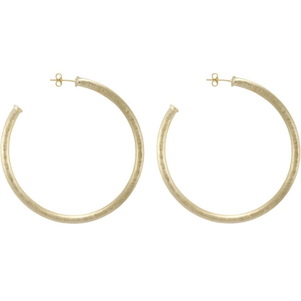 Sheila Fajl Hammered Fave Hoops: Gold