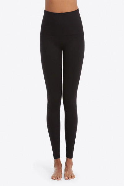 Spanx Look At Me Now Leggings: Very Black