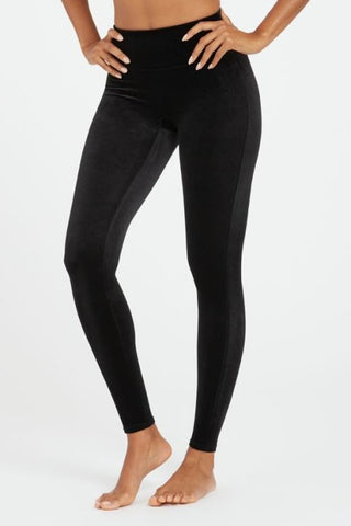Spanx Velvet Leggings: Black