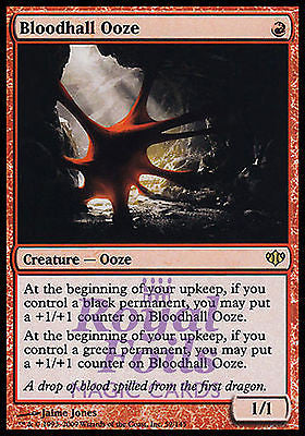 **1x FOIL Bloodhall Ooze** CON MTG Conflux Rare MINT red