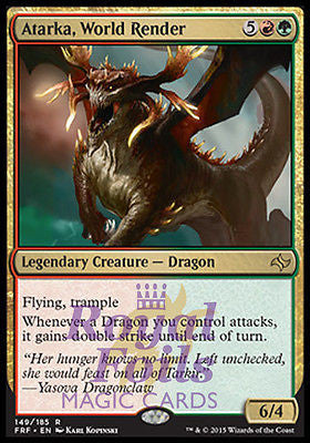 **1x FOIL Atarka World Render* FRF MTG Fate Reforged Rare MINT red green