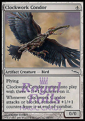 **4x FOIL Clockwork Condor** MDN MTG Mirrodin Common MINT artifact
