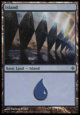 **1x FOIL Island #236** ROE MTG Rise of Eldrazi Basic Land MINT blue
