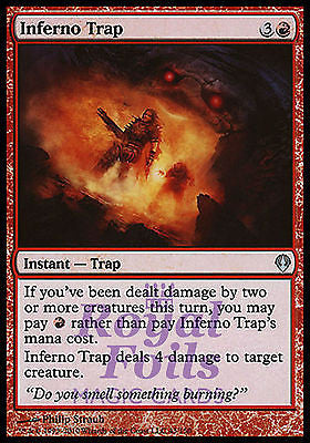 **2x FOIL Inferno Trap** ZEN MTG Zendikar Uncommon MINT red