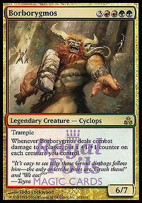**1x FOIL Borborygmos** GPT MTG Guildpact Rare MINT red green