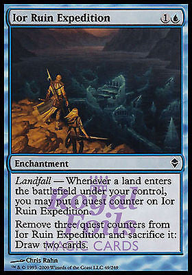 **4x FOIL Ior Ruin Expedition** ZEN MTG Zendikar Common MINT blue