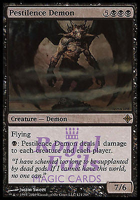 **1x FOIL Pestilence Demon** ROE MTG Rise of Eldrazi Rare NM black