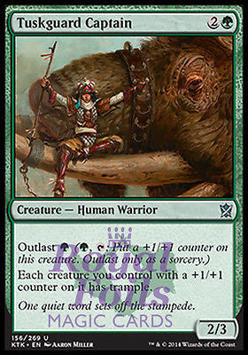 **2x FOIL Tuskguard Captain* MTG KTK Khans of Tarkir Uncommon MINT green