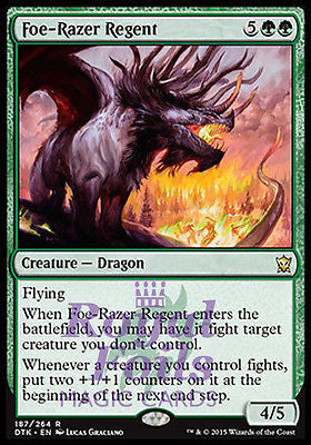 **1x FOIL Foe-Razer Regent** DTK MTG Dragons of Tarkir Rare MINT green