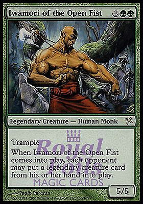 **1x FOIL Iwamori of the Open Fist** BOK MTG Betrayers Kamigawa Rare MINT green