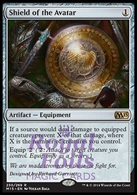 **1x FOIL Shield of the Avatar** MTG M15 Core Set Rare MINT artifact
