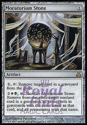**1x FOIL Moratorium Stone** GPT MTG Guildpact Rare MINT white black artifact