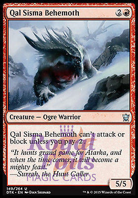 **4x FOIL Qal Sisma Behemoth DTK MTG Dragons of Tarkir Uncommon MINT green