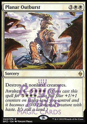**1x FOIL Planar Outburst** BFZ MTG Battle for Zendikar Rare MINT white