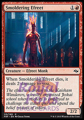**4x FOIL Smoldering Efreet** FRF MTG Fate Reforged Common MINT red