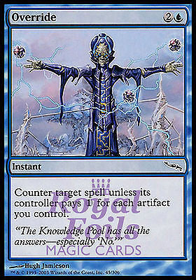 **4x FOIL Override** MDN MTG Mirrodin Common MINT blue instant