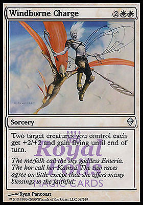 **3x FOIL Windborne Charge** ZEN MTG Zendikar Uncommon MINT white