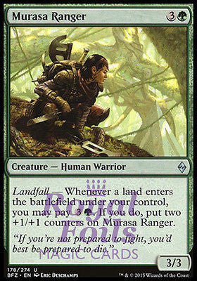 **4x FOIL Murasa Ranger* BFZ MTG Battle for Zendikar Uncommon MINT green