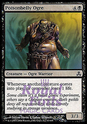 **4x FOIL Poisonbelly Ogre** GPT MTG Guildpact Common MINT black