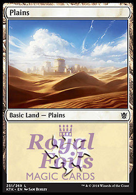 **2x FOIL Plains #251** MTG KTK Khans of Tarkir Basic Land MINT white