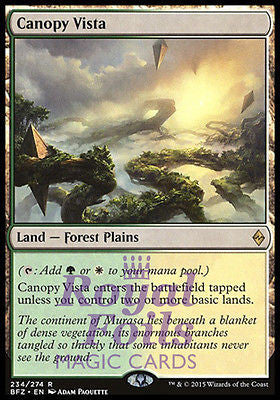 **1x FOIL Canopy Vista** BFZ MTG Battle for Zendikar Rare MINT green white land