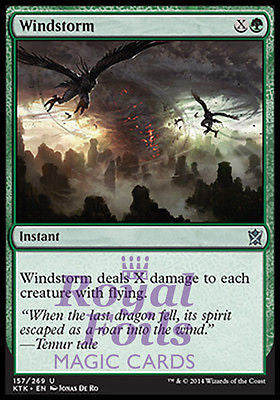 **4x FOIL Windstorm** MTG KTK Khans of Tarkir Uncommon MINT green