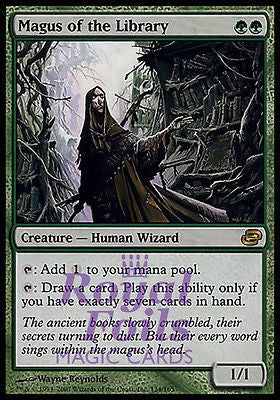 **1x FOIL Magus of the Library PLC MTG Planar Chaos Rare MINT green