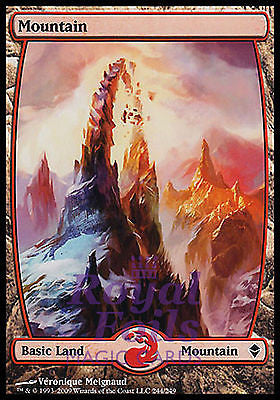 **1x FOIL Mountain 244** ZEN MTG Zendikar Basic Land MINT red
