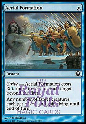 **4x FOIL Aerial Formation** JOU MTG Journey Into Nyx Common MINT blue