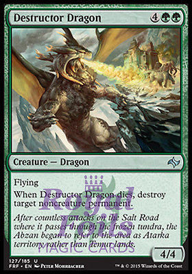 **2x FOIL Destructor Dragon** FRF MTG Fate Reforged Uncommon MINT green