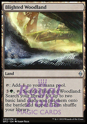 **1x FOIL Blighted Woodland** BFZ MTG Battle for Zendikar Uncommon MINT green land