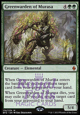 **1x FOIL Greenwarden of Murasa** BFZ MTG Battle for Zendikar Mythic MINT green