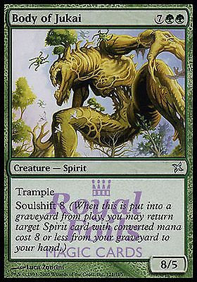 **3x FOIL Body of Jukai** BOK MTG Betrayers Kamigawa Uncommon MINT green