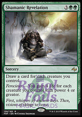 **1x FOIL Shamanic Revelation** FRF MTG Fate Reforged Rare MINT green