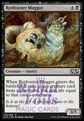 **4x FOIL Rotfeaster Maggot** MTG M15 Core Set Common MINT black insect
