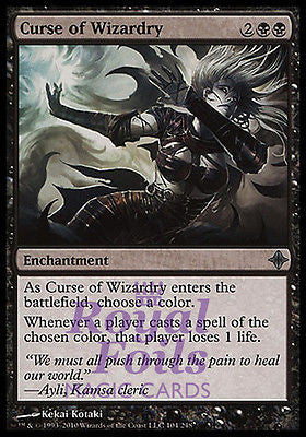 **4x FOIL Curse of Wizardry ROE MTG Rise of Eldrazi Uncommon MINT black