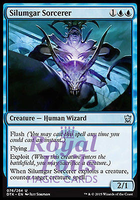 **1x FOIL Silumgar Sorcerer* DTK MTG Dragons of Tarkir Uncommon MINT blue