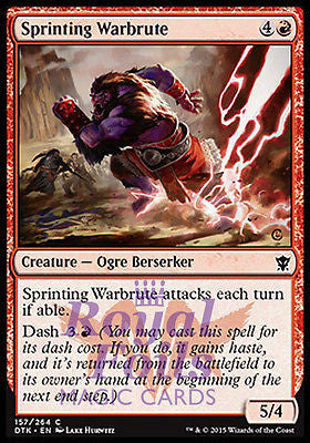 **4x FOIL Sprinting Warbrute** DTK MTG Dragons of Tarkir Common MINT red