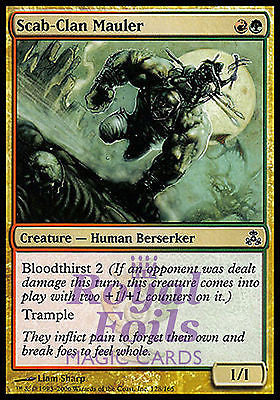 **2x FOIL Scab-Clan Mauler GPT MTG Guildpact Common MINT red green