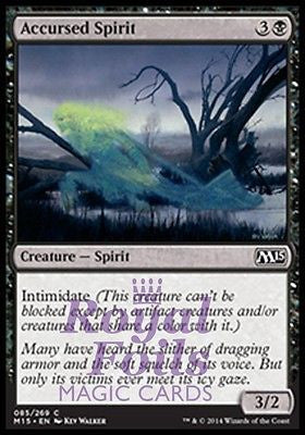 **4x FOIL Accursed Spirit** MTG M15 Core Set Common MINT black