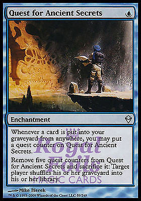 **2x FOIL Quest for Ancient Secrets ZEN MTG Zendikar Uncommon MINT blue