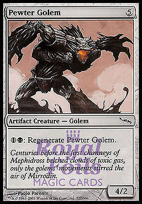 **4x FOIL Pewter Golem** MDN MTG Mirrodin Common MINT artifact