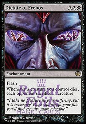 **1x FOIL Dictate of Erebos** JOU MTG Journey Into Nyx Rare MINT black
