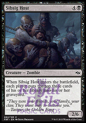 **4x FOIL Sibsig Host** FRF MTG Fate Reforged Common MINT black